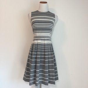 Calvin Klein Grey & White Striped Dress